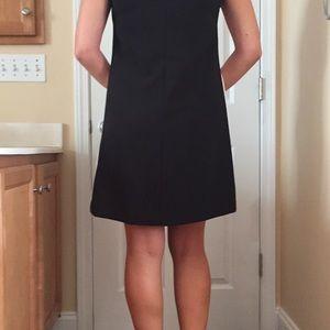 Victoria Beckham for Target Dresses - Black & White Dress with leather appliqué